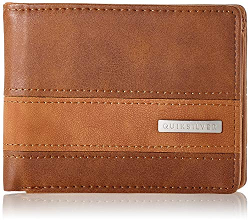 Quiksilver Men's Arch Supplier Wallets, Chocolate Brown, Medium 4.5'(w) x 3.5'(h) / 11(h) x 9(h) cm