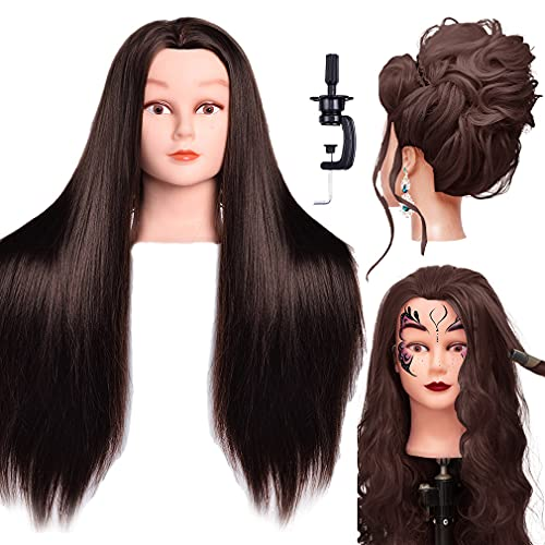 LuAiJa Mannequin Head 26'-28' Long Synthetic Fiber Hair Styling...