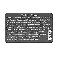 Gzrlyf Barber's Prayer ウォレット カード メタルウォレット インサート ヘアスタイリストへのインスピレーション ギフト