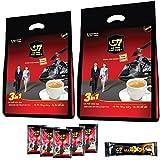 【ベトナム直輸入】TRUNG NGUYEN G7 3in1 ベトナムコーヒー 16g*50袋入り 2個(計100袋) & 濃厚 G7 X2 25g*1袋 カフェオレ 飲み比べ セット