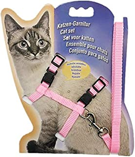 Cat Harness, Adjustable Harness Nylon Strap Collar with Leash, Cat Leash and Harness Set, for Cat and Small Pet Walking