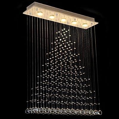 CRYSTOP Chandelier Lighting Ceiling Light Fixture Pendant Lamp for Dining Room Bathroom Bedroom Livingroom