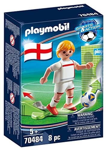 PLAYMOBIL- Sports & Action Jugador de Fútbol, Inglaterra, Multicolor (70484)