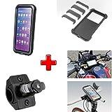 Compatible con Decathlon – Btwin Funda RÍGIDA Universal para Smartphone + Soporte Fijo para Manillar Motocicleta Bicicletas con DIÁMETRO DE 16 A 32MM
