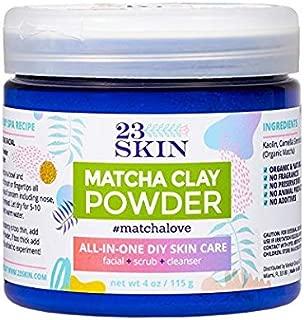 23 Skin Matcha Green Tea Powder Facial Mask with Kaolin Clay (4 oz.) Organic Anti-Aging Antioxidants   DIY Facial Scrub and Pore Cleanser   Absorb Oils and Impurities