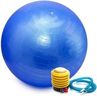 Bola Pilates Yoga Abdominal Ginástica Fitness 65 cm C/Bomba Azul