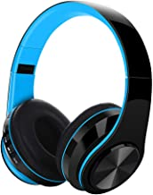 TeaBoy Noise Cancelling Headphones Bluetooth Headphones with Microphone Deep Bass Wireless Wired Headphones Over Ear 10 Ho...