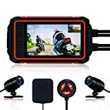 Motorcycle Dash Cam, Anti-Shake Waterproof Camera, 1080P Dual Lens, with GPS WiFi 150 Wide Angle Night Vision Recording