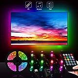 Zorara LED TV Hintergrundbeleuchtung, LED Strip USB 3M mit Fernbedienung, RGB LED Fernseher Beleuchtung für 46-65 Zoll HDTV PC Bildschirm, LED Streifen TV IP65 Wasserdicht Musik Lichtband