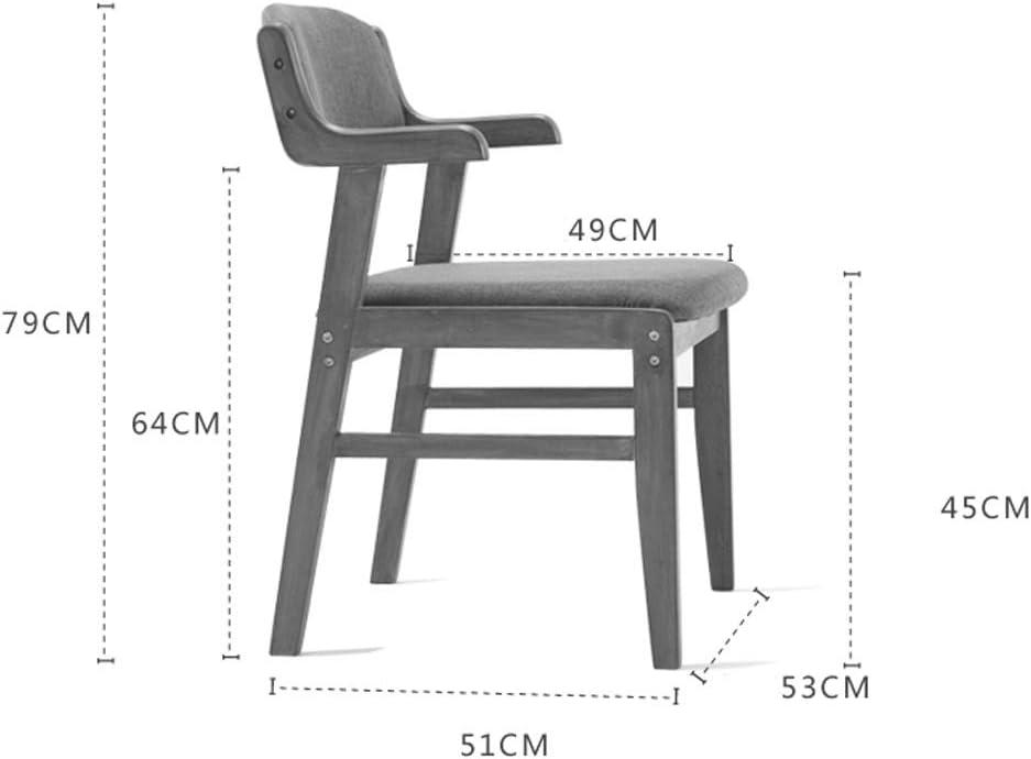 Chaise WGZ de Salle, de Bureau Simple, créative Dossier, Loisirs, Maison Adulte de Salle Simple (Color : Khaki) Khaki
