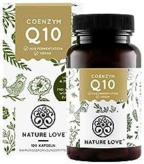 NATURE LOVE® Coenzyme Q10 High Dose – Met 200mg per capsule. 120 veganistische capsules in 4 maanden. Van plantaardige gisting. High-dose & manufactured in Germany*