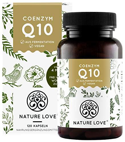 NATURE LOVE® Coenzym Q10 Hochdosiert - Preis-Leistungs-Sieger 2020* - 200mg pro Kapsel. 120 vegane...