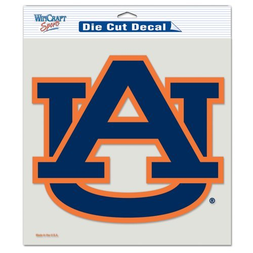 Auburn Tigers Color 8x8 Die-Cut Decal NFL Football Sports Team Auto Car Truck Sticker