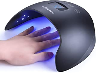 MelodySusie LED UV Nail Lamp- 48W Nail Dryer for Gel Nail Polish Nail Curing Light with Sensor 4 Timer, Professional LG Chip UV Gel Nail Lamp for Manicure/Pedicure with Touch Control