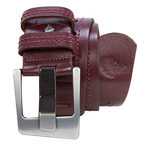 Rock Creek M36 - Cinturón de piel para hombre Rojo vino – G007 X-Large