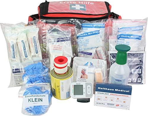 Notfalltasche Erste Hilfe für Industrie, Handwerk, Baustelle & Betriebe groß aus Plane mit Augenspülung