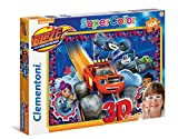 Clementoni - Puzzle de 104 Piezas 3D con Gafas Blaze and Monster Machine (20608)