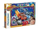 Clementoni - Puzzle de 104 Piezas 3D con Gafas Blaze and Monster Machine (20608)
