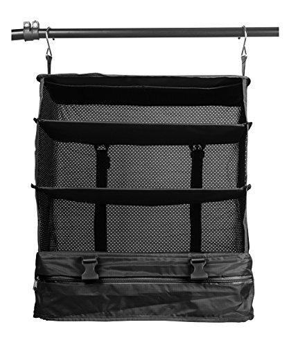 HAUPTSTADTKOFFER - Packhilfe - Reise-Kleiderschrank, Kofferorganizer, Reiseorganizer mit Kleiderhaken zum Aufhängen, praktisches Hängeregal zur Aufbewahrung für Kleidung, 45 cm