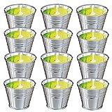 Candela Citronella Set Regalo per Esterno, 12x 2 oz Giardino Candele Citronella, 100% Cera di Soia Naturale per Campeggio, Feste ed Eventi Interno ed Esterno