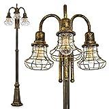 Lampadaire extérieur Borkan procurant un éclairage optimal dans...