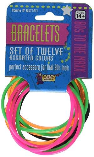 80's Color Rubber Bracelets Set. Create a Cyndi Lauper style.