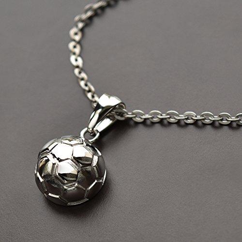 未来創想 遺骨ペンダント サッカーボール ステンレス SUS316L ステンレス製 アジャスターチェーン付き 手元供養 Amazonパッケージ