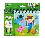 APLI Kids 15206 - Bloc pinta y colorea Granja