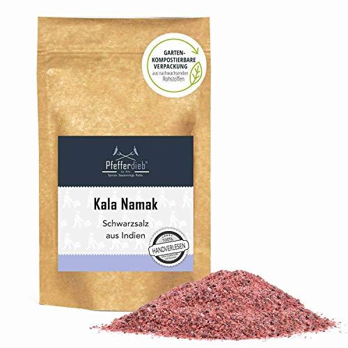 Original Kala Namak Steinsalz aus Indien fein, naturbelassenes Gourmetsalz, Schwarzsalz, 250g - Pfefferdieb®