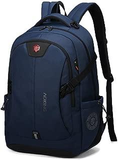Sturdy Fashian Male Computer Backpack Schoolbag Travel Handbag Waterproof Shoulder Handbag Large Capacity Commercial Large Capacity (Color : Blue)