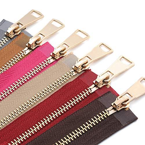 LIANG 30/40/50/60/70/80cm Colorful Open-end Auto Lock Gold Metal Zipper DIY Handcraft For Clothing Pocket Garment Shoe