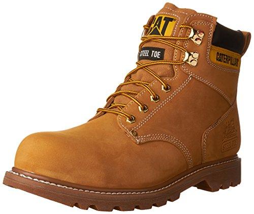 Caterpillar Men's Second Shift Steel Toe Work Boot, Honey, 9