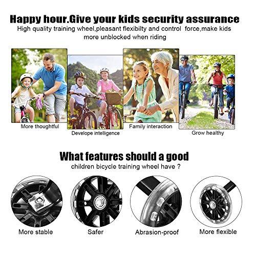 Fahrrad-Trainingsräder, Universal Junior Wheel Stabilisator, Auxiliary Wheel Stand Kinderrad-Trainingsräder Teile-Notwendige Sicherheit und Stabilität-für 12 14 16Inch Kids Riding Equipment(16) - 3