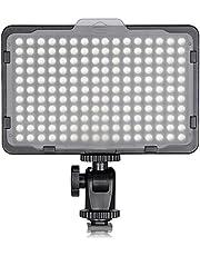 Neewer 176 LED 5600K Ultra helder dimbaar op camera videolamp met 1/4 inch schroefdraad voor Canon Nikon Pentax Panasonic Sony andere DSLR-camera's