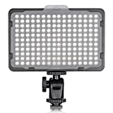 Neewer 176 LED Luz LED Video Cámara Ultrabrillante 3200-5600K Regulable 1/4 de Pulgada Rosca...