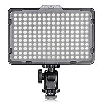 176 Ultra-helle LED-Birnen: Mit 176 individuellen LED-Langzeitbirnen bietet dieses Licht einen breiteren Lichtbereich und beleuchtet einen kontinuierlichen Tageslichtausgleich bei 5600K Eine Drehung des Zifferblattes wird verwendet, um das Licht ein-...