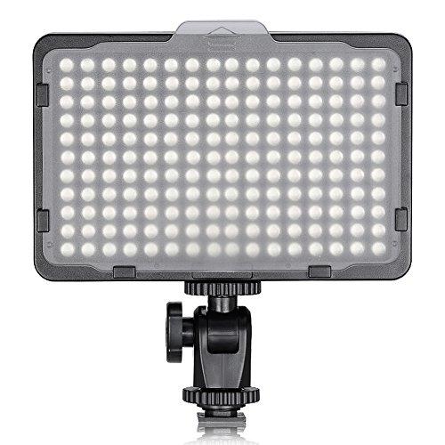 Neewer 176 LED Luz LED Video Cámara Ultrabrillante 3200-5600K Regulable 1/4 de Pulgada Rosca Montura para Canon Nikon Pentax Panasonic Sony Samsung Olympus y Otras Cámaras DSLR
