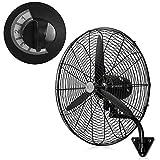 HRXQ Ventilador De Pared Industrial 55/70/80cm Ventilador Industrial Pared Oscilante Ventilador Electrico Industrial 3 Velocidades,Alto Voltaje,Motor De Cobre Puro