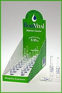 Marine Elastin Face Serum 14 Vials of 2 Ml / 0.07 Fl. Oz. (28 Ml / 0.95 Fl. Oz) By Floryvital