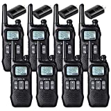 Retevis RT16 Walkie Talkie for Adult, Long Range Rechargeable,Dual Watch Flashlight NOAA VOX Keyboard Lock,2 Way Radio for Business Commercial School (8 Pack)