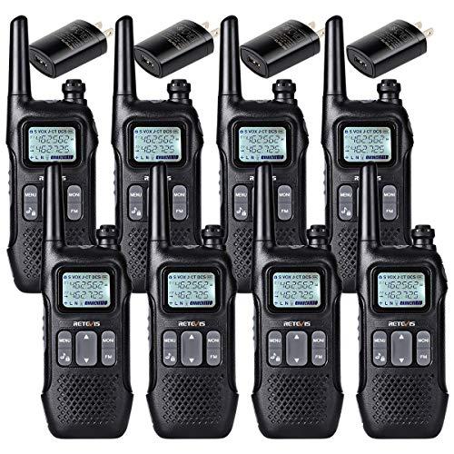 Retevis RT16 2 Way Radio Walkie Talkie for Adult Long Range Dual Watch Emergency Flashlight FM NOAA 22 CH Lock VOX Two Way Radio Rechargeable(8 Pack)