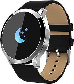 Reloj inteligente Q8 (completamente nuevo), para hombres y mujeres Reloj deportivo inteligente, pantalla táctil impermeable, monitor de oxígeno para la presión arterial y el sueño, para Android e iOS