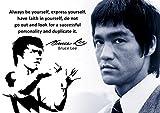 Poster mit Bruce-Lee-Aufdruck, # 62, mit motivierendem