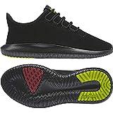 Womens adidas Originals Tubular Shadow Trainers in core black.