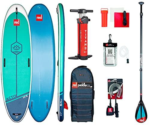 Red Paddle 10'8″ ACTIV Yoga + Carbon 50 Nylon Tabla Sup Y Paddle, Adultos Unisex, Multicolor, Uni