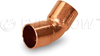 Everflow Supplies CCLF0150 45 Degree C X C Copper Elbow with Two Solder Cups for 1-5/8