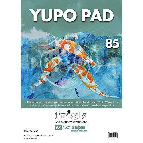 Frisk Yupo Papierblock A3, Papier, weiß