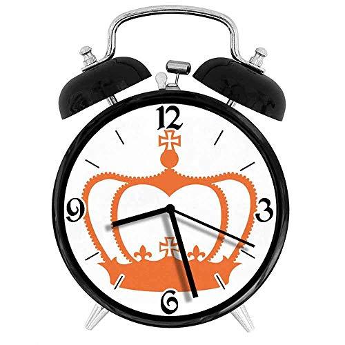 jifyasuo Reloj Despertador Digital Crown Vector Adecuado para Estudio de Dormitorio de Oficina