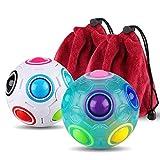 Coogam 2 Stück 3D Regenbogen Puzzle Ball Würfel Magie Regenbogen Ball Stress Linderung Zappeln...