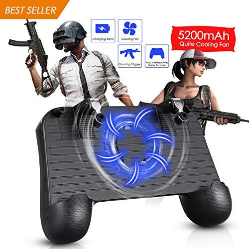 REDSTORM PUBG Mobile Controller, Handy Game Controller, Kühler Lüften Mobile Gaming Griff, Handyspiel Controller, Kompatibel Handygröße 4.0-6.5 Zoll 4 Finger Sensitive Shoot Fire